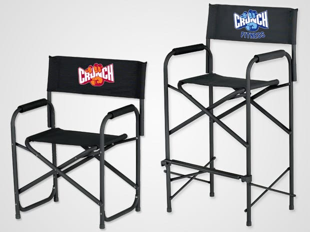 directors chair with logo ezup