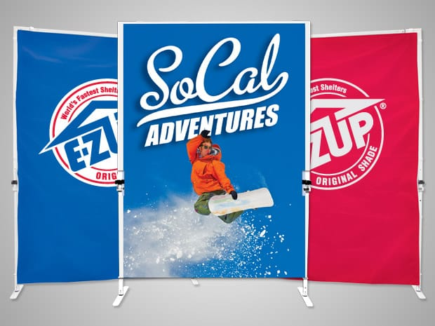 freestanding rollup banners