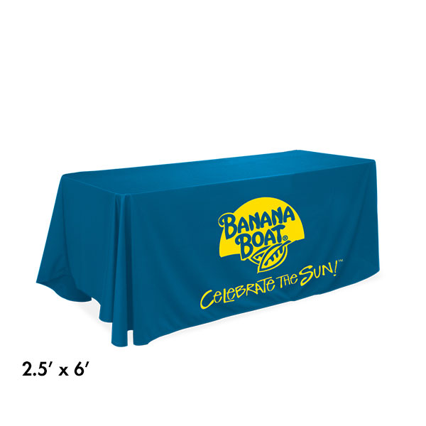 6' table throw with cutom graphics