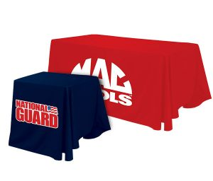 table throws with custom printed graphics