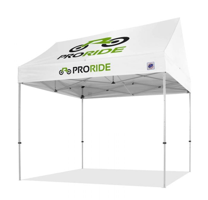 E-Z uP pop up canopy with custom printed graphisc