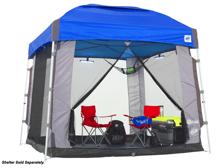 camping screen cube ezup attachment
